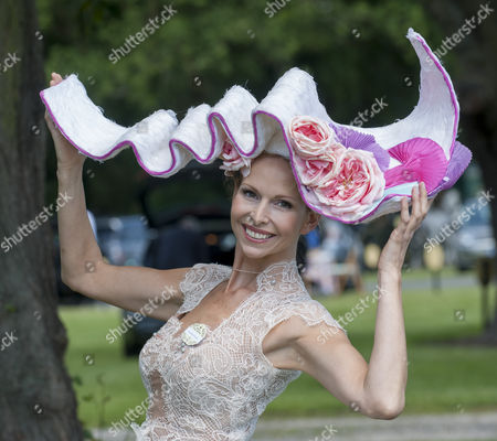 Editorial photo of Anneka Tanaka-svenska With Her Hat On The First Day Of Royal Ascot. Picture David Parker 17.6.14 Reporter Claire Ellicott.