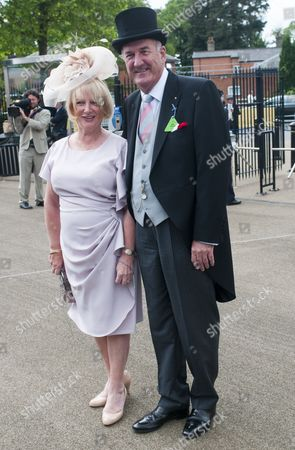 Russ Abbot And His Wife Trish Enjoying The Second Day Of Royal Ascot. 18.6.14 Reporter Claire Ellicott.