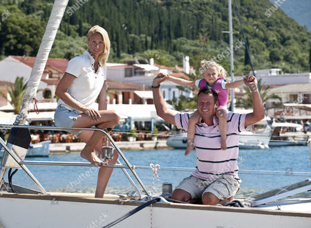 Kim And Simon Brown With Daughter Sienna On The Greek Island Of Kefalonia.  Femail Special 23.6.14.