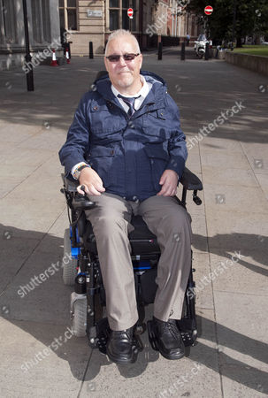 Editorial picture of Paul Lamb At The Supreme Court Westminster. He And Campaigners Have Lost Their Appeal Over The Right To Die. The Case Also Involved The Late Tony Nicklinson Who Had Locked In Syndrome As Well As Paul Lamb Who Was Paralysed In A Crash.