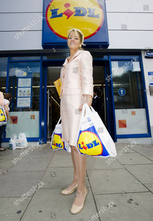 Daily Mail Reporter Petronella Wyatt Looks In To The Increased Popularity Of The Budget Supermarkets. Pictured With Her Shopping At Lidl In Camden London.