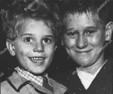 Brian Gibbons (r) Recipient Of The George Medal After Rescuing His Cousin During The Southall Plane Crash. A Vickers Viking Aircraft Crashed Into A Row Of Houses With The Loss Of Seven Lives. Pictured With His Nephew Tommy (4). Box 0606 13072015 00331a.jpg.