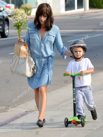 Editorial photo of Selma Blair and son Arthur out and about, Los Angeles, America - 02 Aug 2015