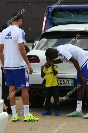 Diego Costa and Ramires with his two young sons