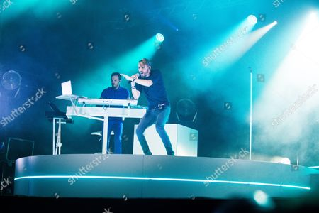 Christophe Willem during the Ronquieres Festival in Belgium.