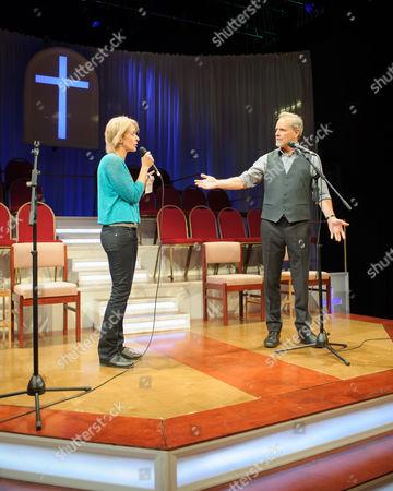 Lucy Ellinson (Congregant) and William Gaminara (Pastor)