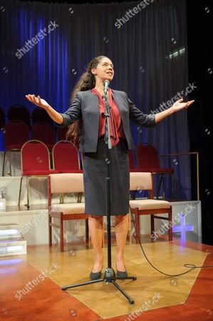 Editorial photo of 'The Christians' play at the Traverse, Edinburgh, Scotland, Britain - 03 Aug 2015