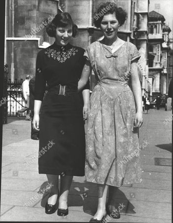 Dancer Rose Patricia Harris (right) With Her Friend Patricia Reynolds Outside The Law Courts. Damages Case. Box 0613 10072015 00193a.jpg.