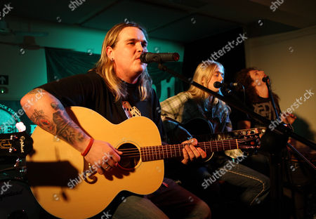 Kentucky based rock band 'Black Stone Cherry' perform an acoustic set at the Gibson Guitar Studio in London on the 27th of May 2009 Ref: JRM - Non-Exclusive *World Rights Only* *Unbylined uses will incur an additional discretionary fee!*