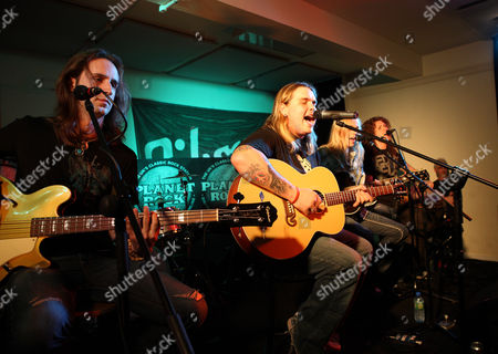 Kentucky based rock band 'Black Stone Cherry' perform an acoustic set at the Gibson Guitar Studio in London on the 27th of May 2009