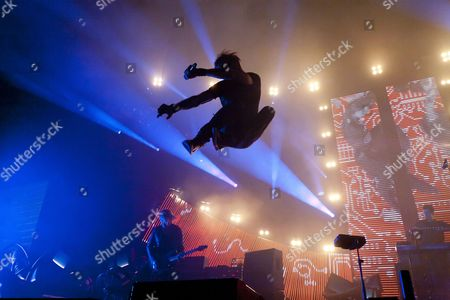 Australian drum and bass band 'Pendulum' perform at Wembley Arena on the 3rd of December 2010