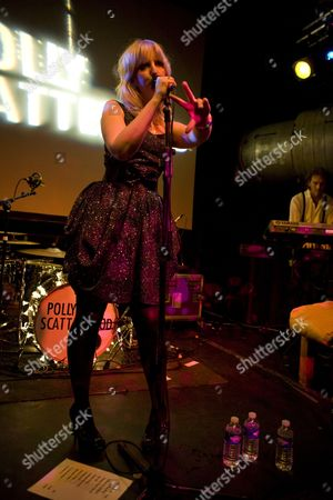 Stock Image of Singer songwriter Polly Scattergood performs at Cargo in London's East End on the 15th of April 2009 Non-Exclusive *World Rights Only* *Unbylined uses will incur an additional discretionary fee!*