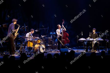 Mercury Prizewinners 'Portico Quartet' perform at the Barbican Hall on 09/02/11