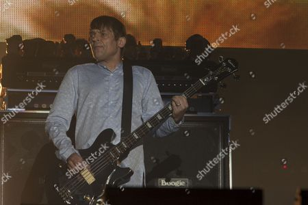 Gary 'Mani' Mounfield from The Stone Roses performs at the V Festival, Chelmsford, 18/08/12