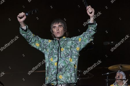 Ian Brown from the Stone Roses performs at V festival, Chelmsford 18/08/12