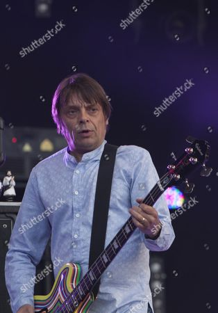 Gary Manny 'Mani' Mounfield from the Stone Roses performs at Finsbury Park, London, 07/06/13