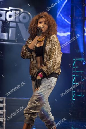 Stock Picture of UK Female Allstar MC's perform at the BBC Radio1Xtra Live at O2 Brixton Academy 01 12 11