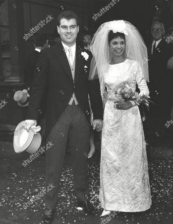 Stock Photo of Middlesex Cricketer Ted Clark And Actress Zorenah Osborne After Their Wedding At Caxton Hall. Box 0615 15072015 00176a.jpg.