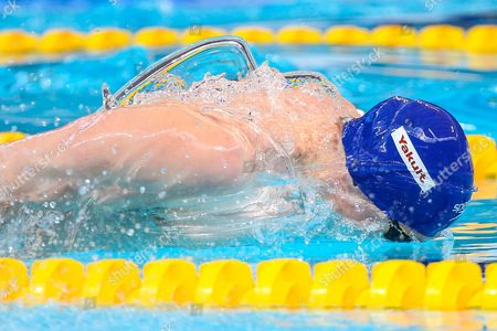 Stock Photo of Great Britain's Roberto Pavoni competes in the Men's 200m Individual Medley heats.