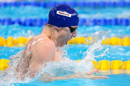 Stock Image of Great Britain's Roberto Pavoni competes in the Men's 200m Individual Medley heats.