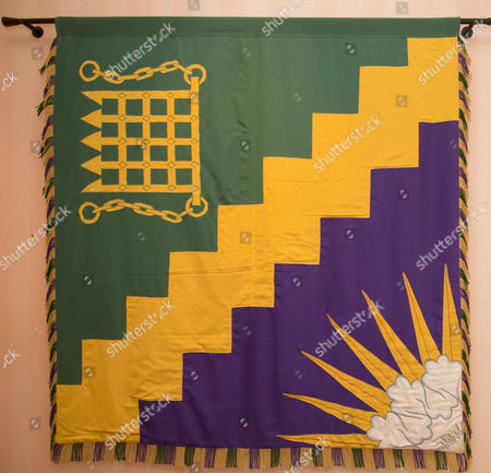 The Order of the Garter on dispaly at Arundells house, the former home Sir Edward Heath.