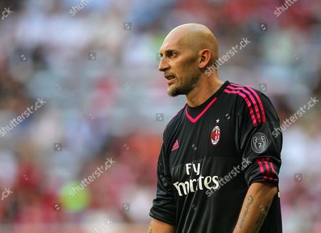 Christian Abbiati of AC Milan   during the Audi Cup  match for the 3rd place played at the Allianz Arena in Munich, Germany
