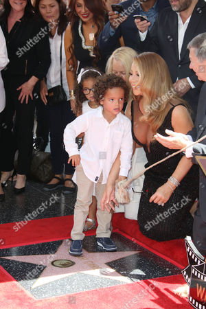 Mariah Carey with Moroccan Scott Cannon and Monroe Cannon