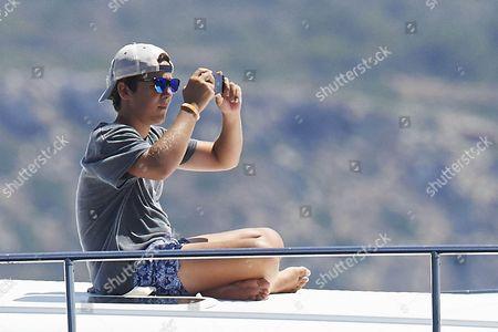 Prince Felipe Juan Froilan on board of the 'Somni'