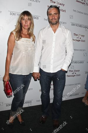 Stock Picture of Dominic Fumusa (R) and wife Ilana Levine