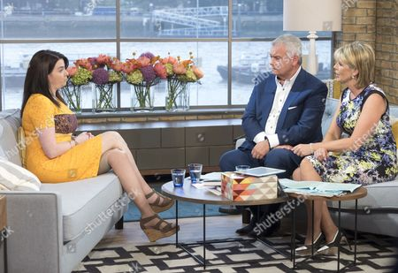 Hannah Campbell with Eamonn Holmes and Ruth Langsford