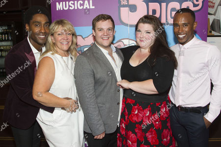 Simon Webbe (Wolf), Alison Jiear (Mother Pig), Daniel Buckley (Q), Leanne Jones (Bee) and Taofique Folarin (Bar)