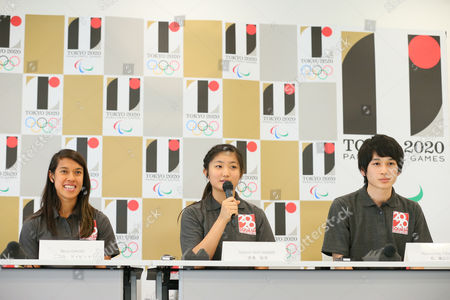(L to R) Nicol David, Satomi Watanabe, Ryunosuke Tsukue - World Squash Federation (WSF). Sports federations are interviewed as candidates wishing to be included in 2020 Olympic Games.