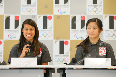 (L to R) Nicol David, Satomi Watanabe - World Squash Federation (WSF). Sports federations are interviewed as candidates wishing to be included in 2020 Olympic Games.