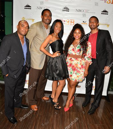 Trey Haley, Lamman Rucker, N.D. Brown, Bre'ly Evans and Christian Keyes