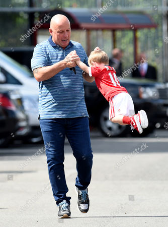 Klay Rooney with grandfather Tony.