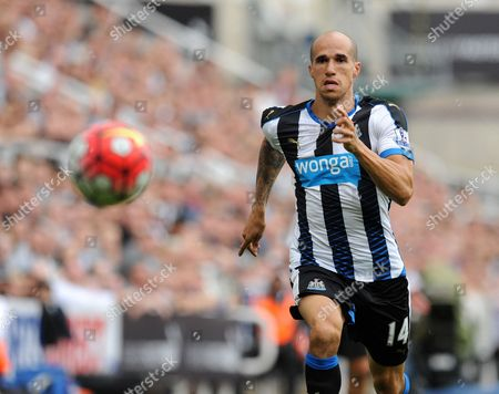 Gabriel Obertan of Newcastle United during the Barclays Premier League match between Newcastle United and Southampton played at St. James' Park, Newcastle upon Tyne