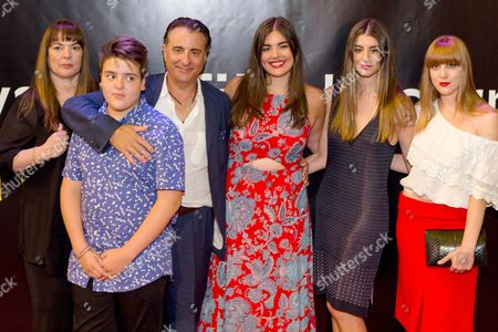 Andy Garcia, his wife Marivi Lorido Gracia, son Andres Garcia-Lorido and daughters Daniella Garcia-Lorido, Dominik Garcia-Lorido, Alessandra Garcia-Lorido