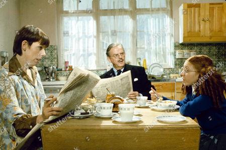 Frances de la Tour, David Tomlinson and Bonnie Langford