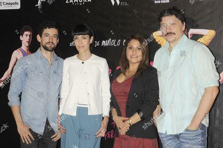 Stock Image of Luis Gerardo Mendez, Cecilia Suarez, Vanessa Bauche and Carlos Bardem