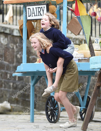 Editorial photo of 'Swallows and Amazons' on set filming, Hepstonstall, Yorkshire, Britain - 03 Aug 2015