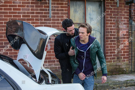 Callum Logan [SEAN WARD] is stunned to find Andy Carver [OLIVER FARNWORTH] in his car and frogmarches him into the pub, demanding answers. Andy makes out he was trying to steal his car and the drugs just fell out of his pocket. Callum's having none of it and menacingly threatens Andy, until David Platt [JACK P SHEPHERD] bursts in, admitting that he ordered Andy to plant drugs with the intention of then reporting Callum to the police. As an angry Callum vows to teach him a lesson, David does a runner. Andy arrives at his birthday party, explaining to Gail and Steph how David's in trouble. As David runs down a darkened street, he's suddenly pounced upon by Gemma, Callum and Macca who drag him towards the car!