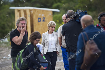 Editorial image of BBC 'Songs of Praise' film crew in The Jungle, Calais, France - 10 Aug 2015