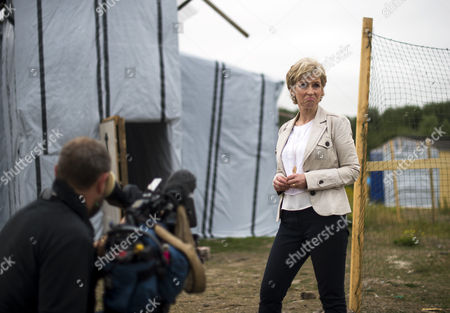 Editorial picture of BBC 'Songs of Praise' film crew in The Jungle, Calais, France - 10 Aug 2015