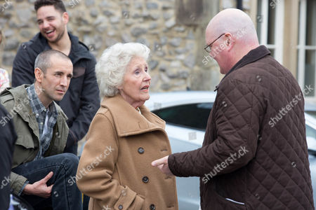 Everyone heads outside the pub as Betty [PAULA TILBROOK] returns to say her goodbyes. In true Betty style, she bids farewell to the village, leaving her friends and family gob smacked as she is driven away in an enormous limousine.