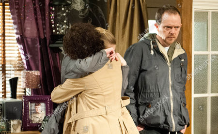 Ali Spencer [KELLI HOLLIS], Ruby Haswell [ALICYA EYO] and Dan Spencer [LIAM FOX] are gutted about the bad news about Sean.