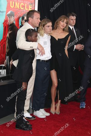 Stock Image of David Ciccone Ritchie, Guy Ritchie, Rocco Ritchie, Jacqui Ainsley