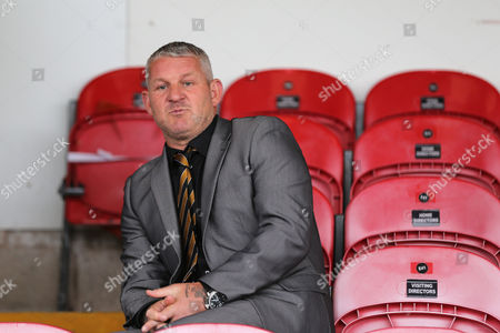 Hull City Ambassador Dean Windass pictured in the stands ahead of the Capital One Cup match between Accrington Stanley and Hull City at Crown Ground, Accrington