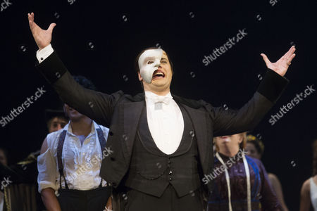 Editorial image of 'The Phantom of the Opera' musical 12,000th performance, London, Britain - 11 Aug 2015
