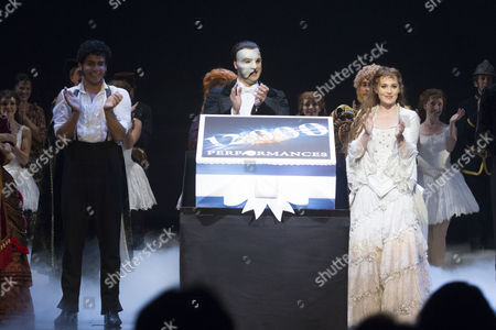 Editorial photo of 'The Phantom of the Opera' musical 12,000th performance, London, Britain - 11 Aug 2015