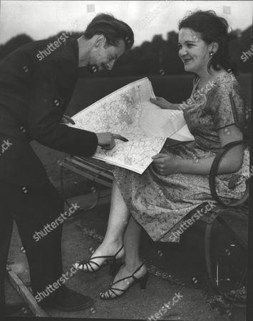 Editorial image of John Macdonald & Wife Dorothy Macdonald Who Are Planning To Raft Kontiki Style Round The World. Box 0618 22072015 00280a.jpg.